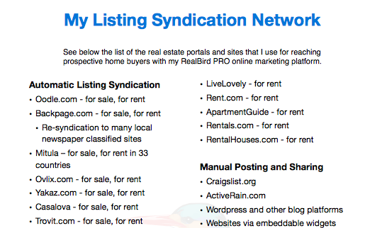 Listing Syndication